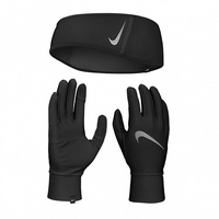 Комплект перчатки и повязка Nike Essential Running 082