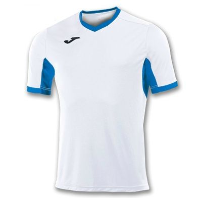 Футболка игровая Joma CAMISETA CHAMPION IV BLANCO-ROYAL M/C